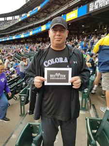 Carlos attended Colorado Rockies vs. Miami Marlins - MLB - Sunday on Jun 24th 2018 via VetTix