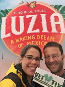 Heather attended Luzia by Cirque Du Soleil - 5pm Show on Jun 3rd 2018 via VetTix