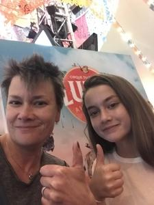 Lou, Tiffany and Leah attended Luzia by Cirque Du Soleil - 5pm Show on Jun 3rd 2018 via VetTix