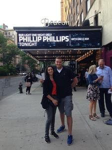 Mark attended Bud Light One Night Only Featuring Phillip Phillips on Jun 7th 2018 via VetTix