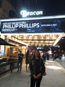 Judy attended Bud Light One Night Only Featuring Phillip Phillips on Jun 7th 2018 via VetTix