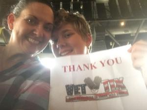 Alicia Black attended Rascal Flatts Back to US Tour on Jun 8th 2018 via VetTix