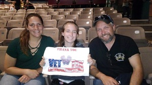 David attended Rascal Flatts Back to US Tour on Jun 8th 2018 via VetTix