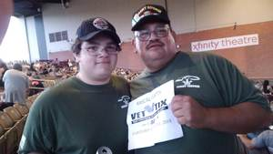 Antonio attended Rascal Flatts Back to US Tour on Jun 8th 2018 via VetTix