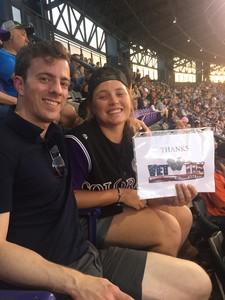 Colleen attended Colorado Rockies vs. San Francisco Giants - MLB on Jul 2nd 2018 via VetTix