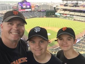 Sean attended Colorado Rockies vs. San Francisco Giants - MLB on Jul 2nd 2018 via VetTix