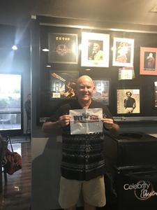 Terry attended Alan Parson's Project Live on Jun 8th 2018 via VetTix