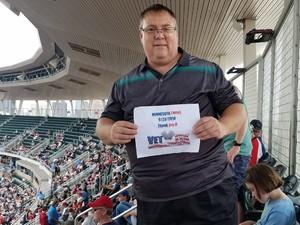 Lee attended Minnesota Twins vs. Texas Rangers - MLB on Jun 23rd 2018 via VetTix