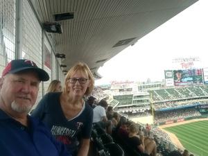 John & Sandy Richert attended Minnesota Twins vs. Texas Rangers - MLB on Jun 23rd 2018 via VetTix