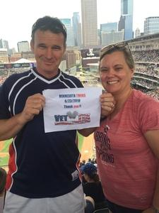 Lance attended Minnesota Twins vs. Texas Rangers - MLB on Jun 23rd 2018 via VetTix