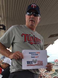 Denny attended Minnesota Twins vs. Texas Rangers - MLB on Jun 23rd 2018 via VetTix