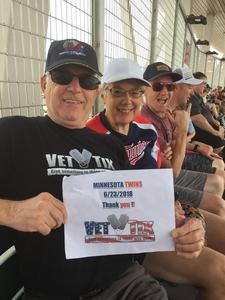 Charles attended Minnesota Twins vs. Texas Rangers - MLB on Jun 23rd 2018 via VetTix