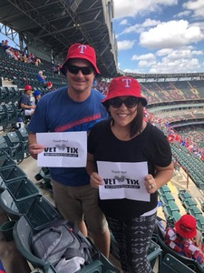 Caitlin attended Texas Rangers vs. Colorado Rockies - MLB on Jun 17th 2018 via VetTix