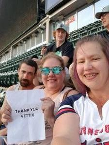 Jennifer attended Minnesota Twins vs. Baltimore Orioles - MLB on Jul 6th 2018 via VetTix