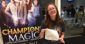 Catherine attended Champions of Magic - Saturday on Jun 30th 2018 via VetTix