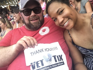 Tieu and Josh attended Luke Bryan: What Makes You Country Tour on Jun 16th 2018 via VetTix