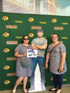 Stacie attended Luke Bryan: What Makes You Country Tour on Jun 16th 2018 via VetTix