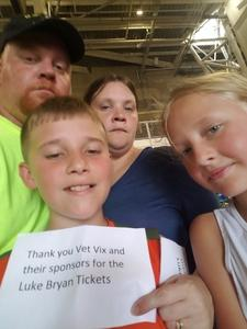 Christopher attended Luke Bryan: What Makes You Country Tour on Jun 16th 2018 via VetTix