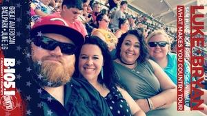 Johnathan attended Luke Bryan: What Makes You Country Tour on Jun 16th 2018 via VetTix