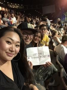 Miguel attended Kesha and Macklemore - Live in Concert - Presented by the Mandalay Bay Events Center on Jun 9th 2018 via VetTix