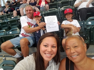 gene attended Minnesota Twins vs. Cleveland Indians - MLB on Jul 30th 2018 via VetTix