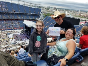 Barton attended Kenny Chesney: Trip Around the Sun Tour on Jun 30th 2018 via VetTix