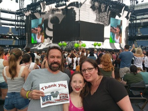 Paul attended Taylor Swift Redemption Stadium Tour on Jul 27th 2018 via VetTix