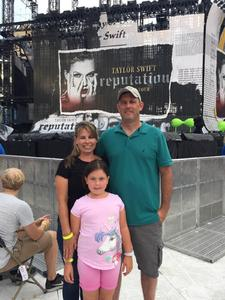 Michael attended Taylor Swift Redemption Stadium Tour on Jul 27th 2018 via VetTix