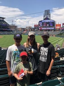 Brendan attended Colorado Rockies vs. Arizona Diamondbacks - MLB on Jul 11th 2018 via VetTix