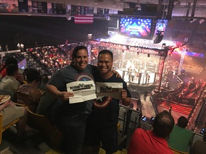 Ian attended Pfl 3 - Shields vs. Cooper - Professional Mixed Martial Arts - Presented by Professional Fighters League on Jul 5th 2018 via VetTix