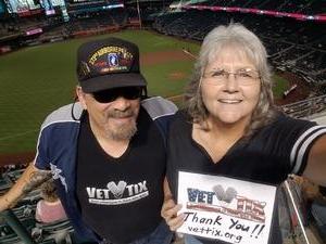 Marion attended Arizona Diamondbacks vs. Texas Rangers - MLB on Jul 31st 2018 via VetTix