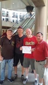 Patrick attended Arizona Diamondbacks vs. Texas Rangers - MLB on Jul 31st 2018 via VetTix