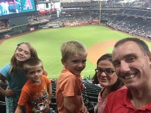 Kenneth attended Arizona Diamondbacks vs. Texas Rangers - MLB on Jul 31st 2018 via VetTix