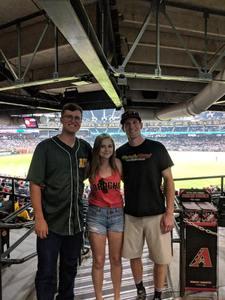 Martin attended Arizona Diamondbacks vs. Texas Rangers - MLB on Jul 31st 2018 via VetTix