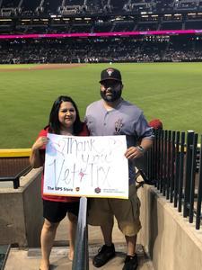 David attended Arizona Diamondbacks vs. Texas Rangers - MLB on Jul 31st 2018 via VetTix