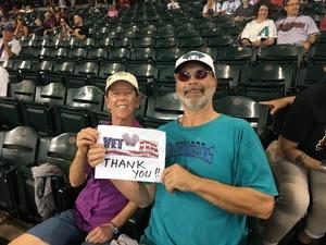 teri attended Arizona Diamondbacks vs. San Francisco Giants - MLB on Aug 4th 2018 via VetTix