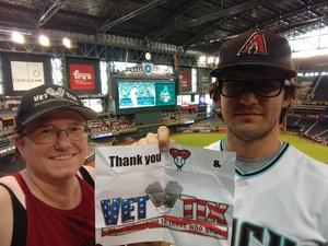 Kristina attended Arizona Diamondbacks vs. San Francisco Giants - MLB on Aug 4th 2018 via VetTix