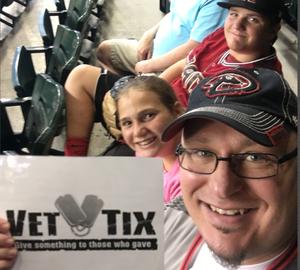 Bradlee attended Arizona Diamondbacks vs. San Francisco Giants - MLB on Aug 4th 2018 via VetTix