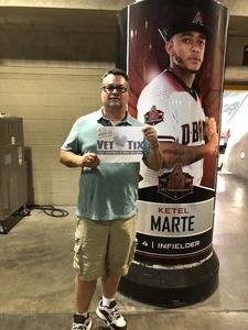 Willis attended Arizona Diamondbacks vs. Philadelphia Phillies - MLB on Aug 7th 2018 via VetTix