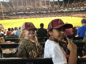 Leon attended Arizona Diamondbacks vs. Philadelphia Phillies - MLB on Aug 7th 2018 via VetTix
