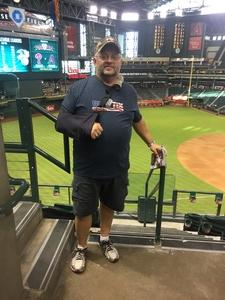 Gregory attended Arizona Diamondbacks vs. Philadelphia Phillies - MLB on Aug 7th 2018 via VetTix