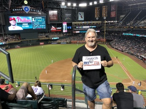 James attended Arizona Diamondbacks vs. Philadelphia Phillies - MLB on Aug 7th 2018 via VetTix