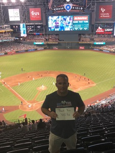 Robert attended Arizona Diamondbacks vs. Philadelphia Phillies - MLB on Aug 7th 2018 via VetTix