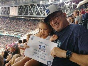 Mario attended Arizona Diamondbacks vs. Seattle Mariners - MLB on Aug 24th 2018 via VetTix