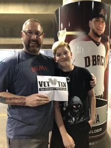 Drew attended Arizona Diamondbacks vs. Seattle Mariners - MLB on Aug 24th 2018 via VetTix