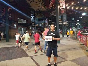 Ian attended Arizona Diamondbacks vs. Seattle Mariners - MLB on Aug 24th 2018 via VetTix