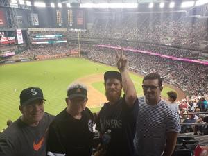 Ray attended Arizona Diamondbacks vs. Seattle Mariners - MLB on Aug 24th 2018 via VetTix