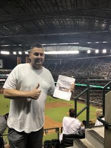 Mark attended Arizona Diamondbacks vs. Seattle Mariners - MLB on Aug 24th 2018 via VetTix