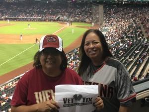 Elizabeth attended Arizona Diamondbacks vs. San Diego Padres - MLB on Sep 3rd 2018 via VetTix