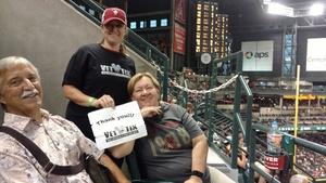 Lindsay attended Arizona Diamondbacks vs. San Diego Padres - MLB on Sep 3rd 2018 via VetTix